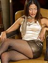Sweet Oriental in pantyhose